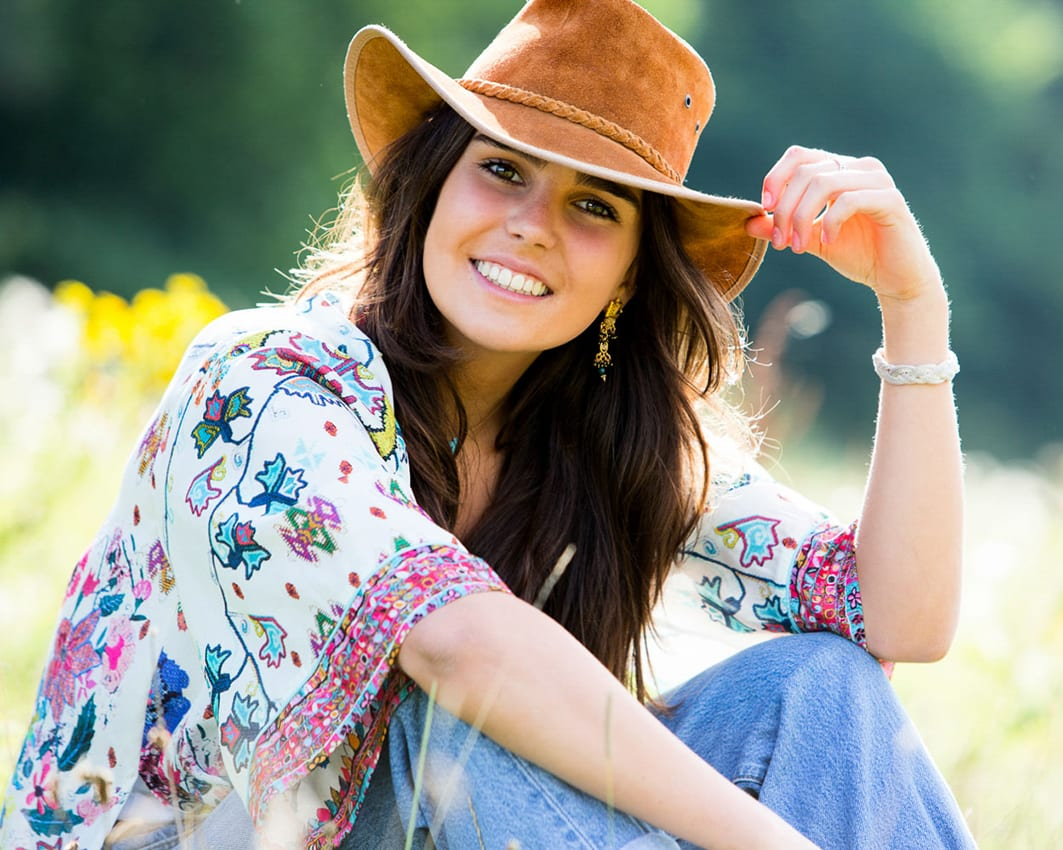 girl in a cowboy hat