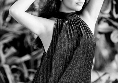 dubai model in a silver dress