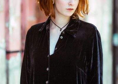photo of a red haired girl in Shoreditch